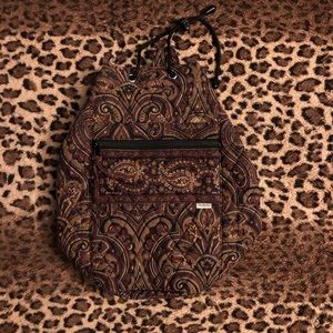 Brown paisley Vera Bradley backpack
